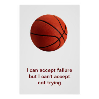 Sport Motivational Quote Basketball Poster