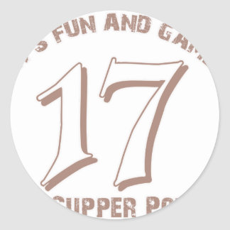 Sport Number17 Designs Classic Round Sticker