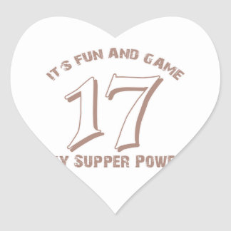Sport Number17 Designs Heart Sticker