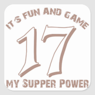 Sport Number17 Designs Square Sticker