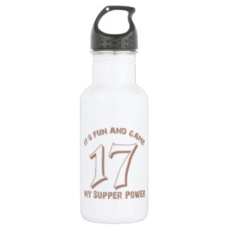 Sport Number17 Designs Stainless Steel Water Bottle