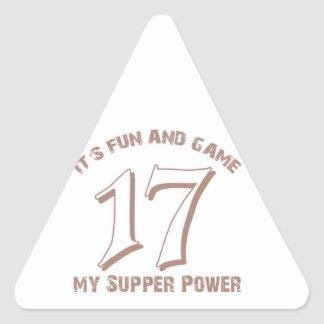 Sport Number17 Designs Triangle Sticker