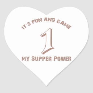 Sport  Number 1 Designs Heart Sticker