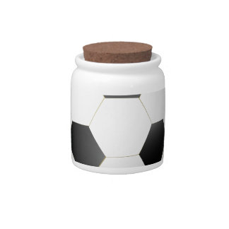 sport pattern candy jar