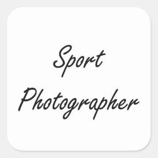 Sport Photographer Artistic Job Design Square Sticker