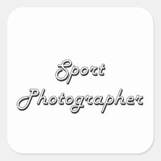 Sport Photographer Classic Job Design Square Sticker