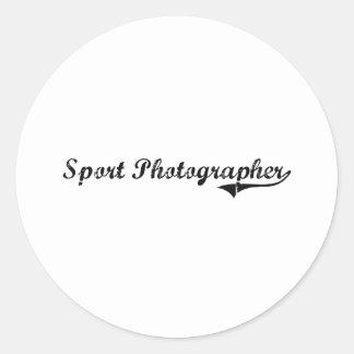 Sport Photographer Professional Job Round Stickers