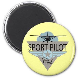 Sport Pilot Club 2 Inch Round Magnet