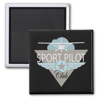Sport Pilot Club 2 Inch Square Magnet