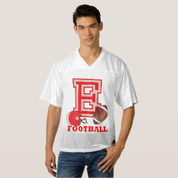 Sport Red Letter E - Football Men's Football Jersey