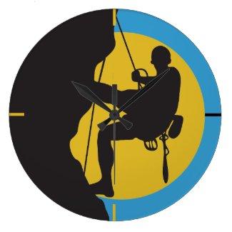 Sport Rock Climbing Wall Clock
