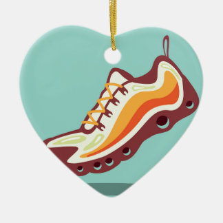 Sport Running Shoe Ceramic Ornament
