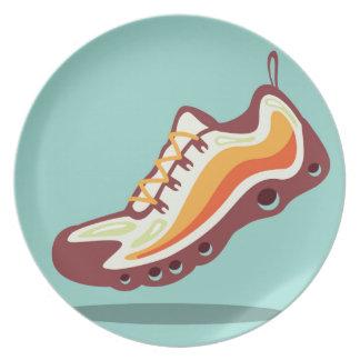 Sport Running Shoe Dinner Plate