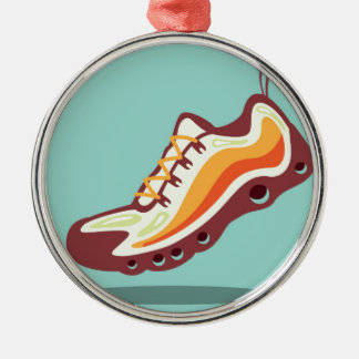 Sport Running Shoe Metal Ornament