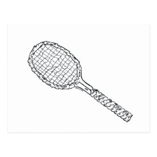 Sport Series - Tennis Racket Postcard