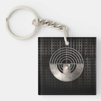 Sport Shooting; Cool Double-Sided Square Acrylic Keychain