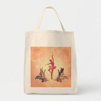 Sport, Silhouette ballet dancer Canvas Bags
