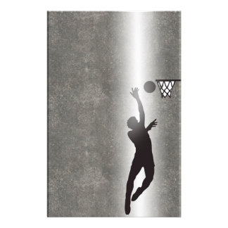 Sport Silhouette Basketball Stationery