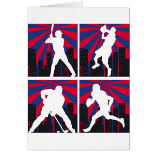 Sport Silhouettes Card