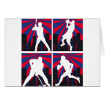 Sport Silhouettes Greeting Cards