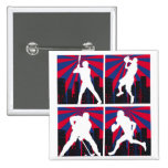 Sport Silhouettes Pinback Buttons