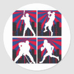 Sport Silhouettes Round Stickers