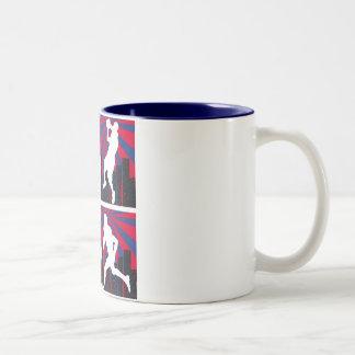 Sport Silhouettes Two-Tone Coffee Mug