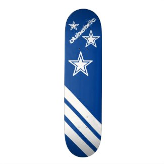 Sport Skateboard Blue Stars Stripes Cubebric