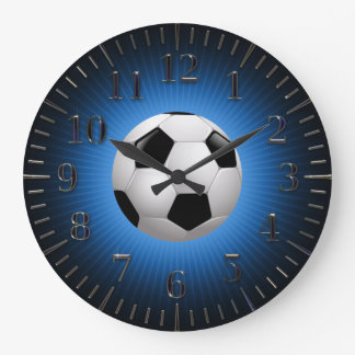 Sport Soccer | Football Modern Blue Wall Clock