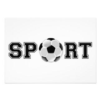 Sport (Soccer) Custom Invitation