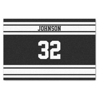 "Sport Stripes in White and Black 10"" X 15"" Tissue Paper"
