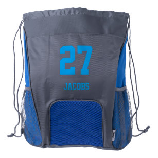 Sport Style Diy Name And Number Drawstring Backpack
