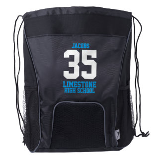 Sport Style | DIY Name, Number, School Drawstring Backpack