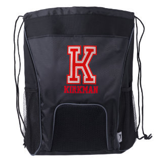 Sport Style | Monogram Letter K Drawstring Backpack