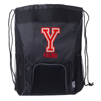 Sport Style | Monogram Letter Y Drawstring Backpack