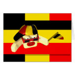 Sport Supporter Black Yellow Red Greeting Card
