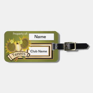 Sport Tennis Bag Tag