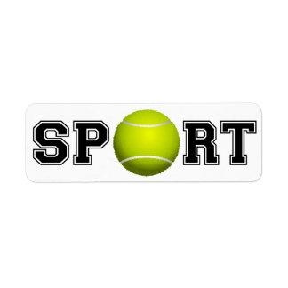 Sport (Tennis) Label