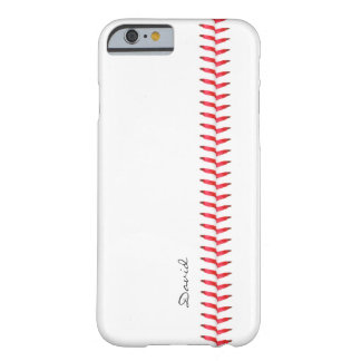 Sport Theme Baseball Stitching Custom Name Barely There iPhone 6 Case