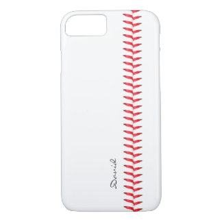 Sport Theme Baseball Stitching Custom Name iPhone 7 Case