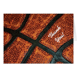 Sport Theme Thank You Old Retro Basketball Pattern Card