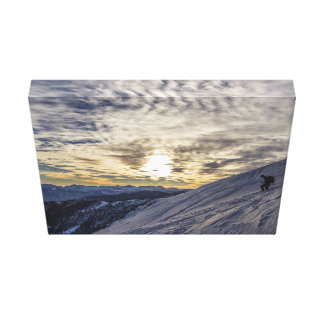 Sport Themed, A Man Climbing Down The Slope Of A M Canvas Print
