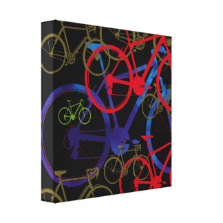 sport-themed bikes stretched canvas prints