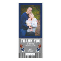 Sport Ticket Thank You Card, Blue and Gray Invitation