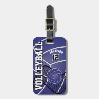 Sport Volleyball | DIY Text - Dark Blue Bag Tag