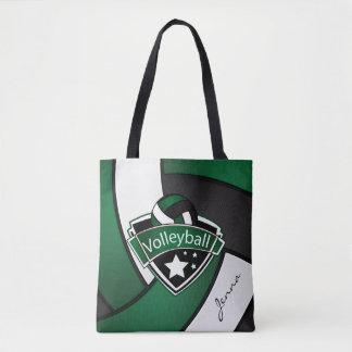 Sport Volleyball | DIY Text - Dark Green Tote Bag