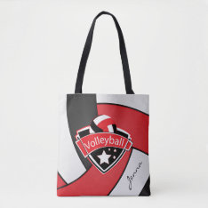 Sport Volleyball | Diy Text - Red Tote Bag at Zazzle