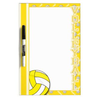 Sport Volleyball | Yellow Dry-Erase Board