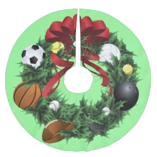 Sport Wreath Christmas Tree Skirt