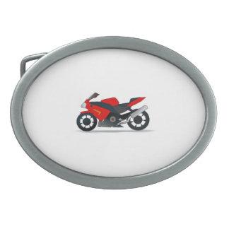 Sportbike Motorcycle Oval Belt Buckles